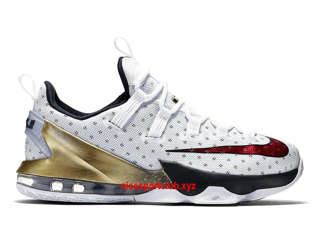 size 40 261e7 a22e1 ... switzerland chaussures de basketball nike lebron 13 low olympic prix homme  pas cher blanc bleu 7e84f