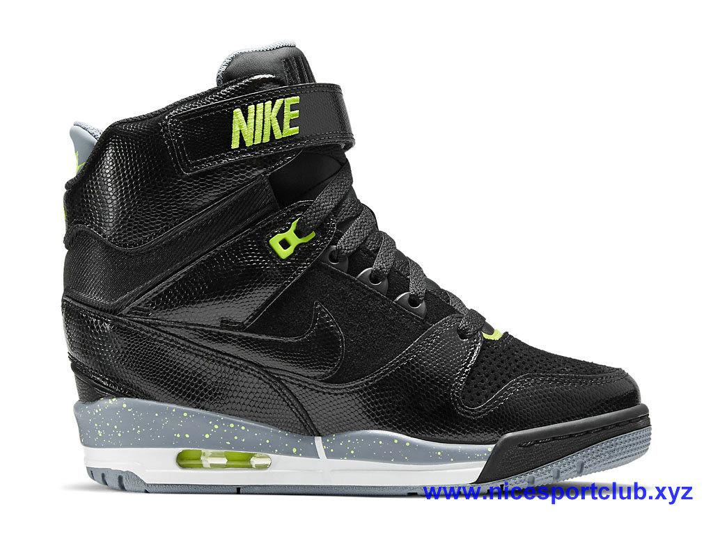 Chaussures Femme Nike Wmns Air Revolution Sky Hi NoirVert