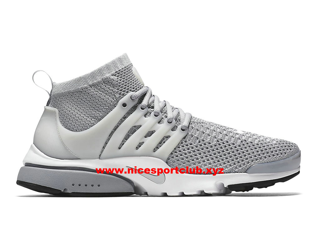Nike Air Presto Flyknit Ultra Prix Chaussures Homme Pas Cher Gris 835570_002