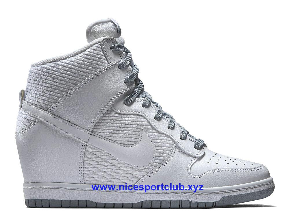 Nike WMNS Dunk Sky Hi Femme BlancGris 644877 102 Nice